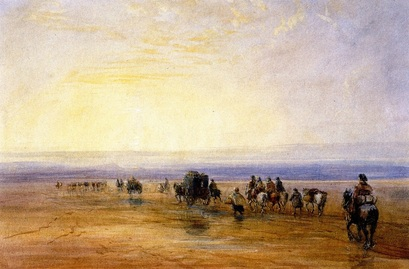 David Cox - On Lancaster Sands, Sunset - 1835